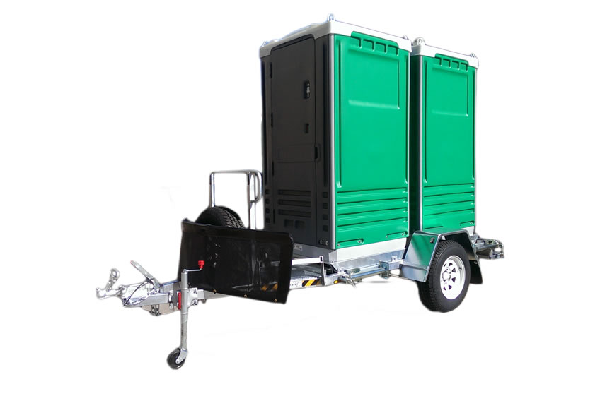 Alltoilets (WA) Dual Off-Road Trailer Mounted Portable Toilets