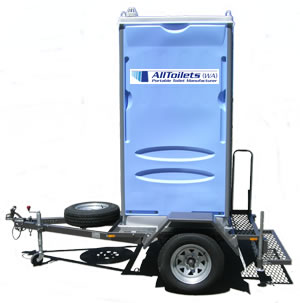 Alltoilets (WA) Single On-Road Trailer Mounted Portable Toilet
